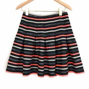 HD IN PARIS Neon Striped Pleated Mini Skirt